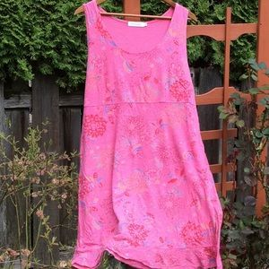Fresh Produce Dress lightweight pink cotton USA